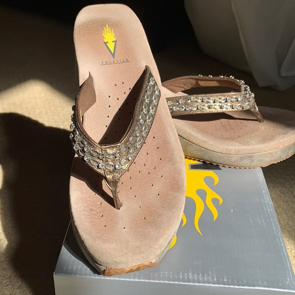 Volatile wedge shoe